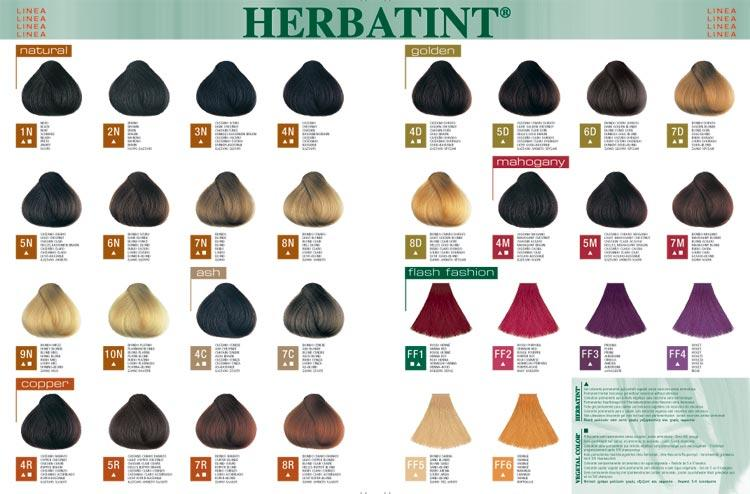 herbatint colour chart: Herbal hair care products by herbatint